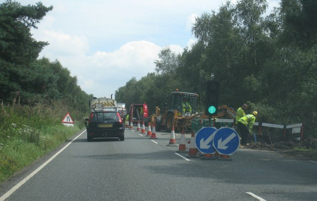 Roadworks on the A30