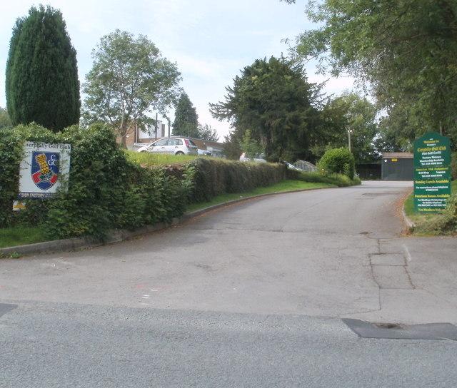 Entrance to Caerphilly Golf Club