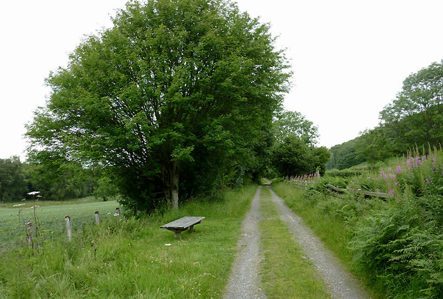 Dismantled railway course near Tregaron, Ceredigion
