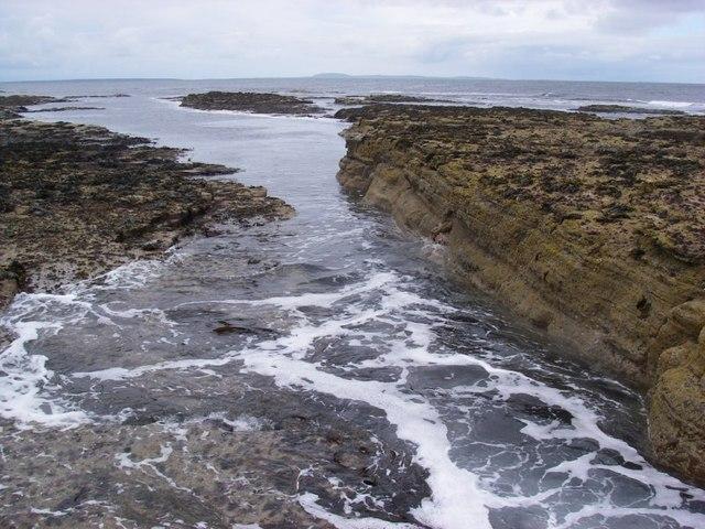Seawashed rocks near the Lotheran