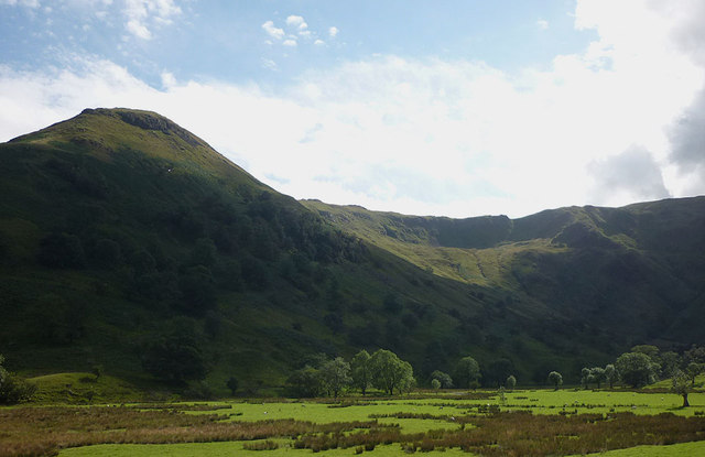 The sunlit pastures of Dovedale