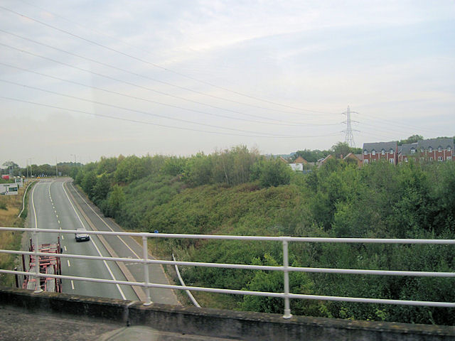 A5124 looking towards Battlefield Roundabout
