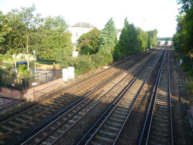 Railway lines near Shortlands