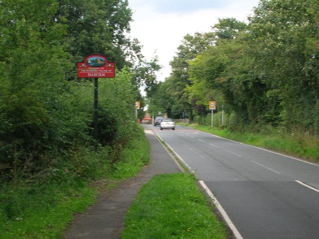 Entering Naburn on the B1222