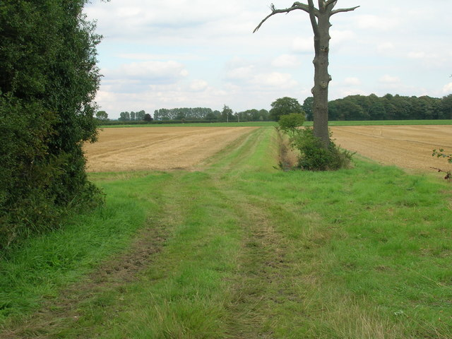 Farm track off the B1222