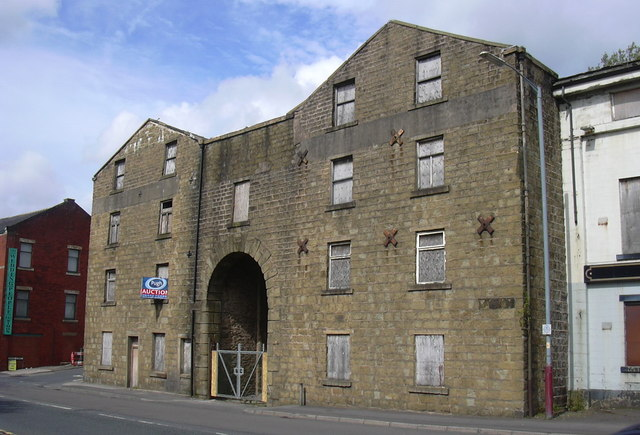"""The Hargreaves Warehouse"" Leeds-Liverpool Canal at Church near Accrington, Lancashire"