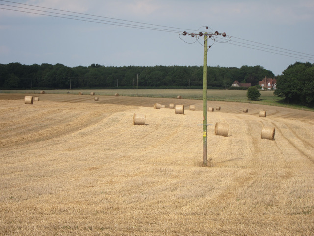 Straw bales off Bunce Court Road