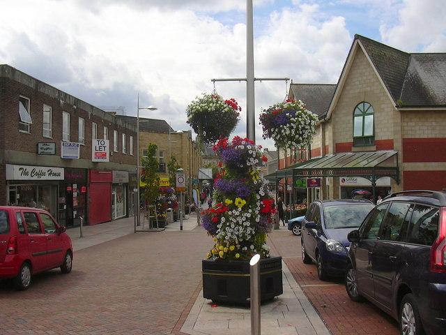 Floral Display, Broadway, Accrington