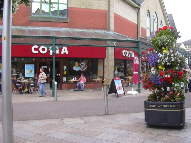 """Costa Coffee"". Unit 6 Cornhill, Broadway,  Accrington"