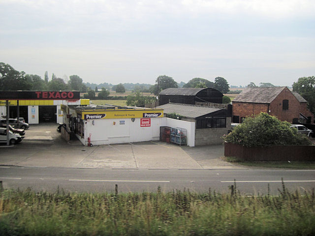 Texaco garage on B5476 at Wem