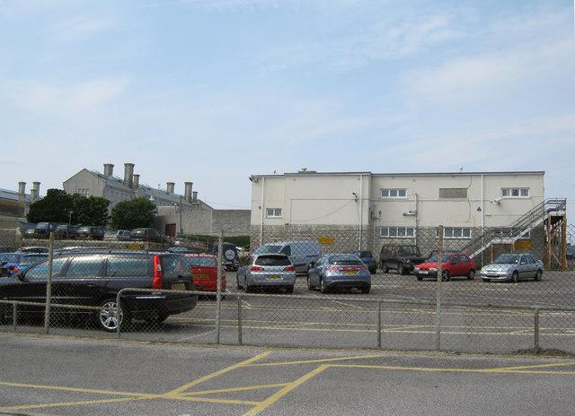 Visitor car park for HMP Portland YOI
