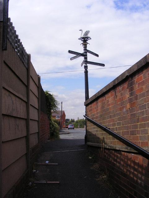 Swan Lane Signpost