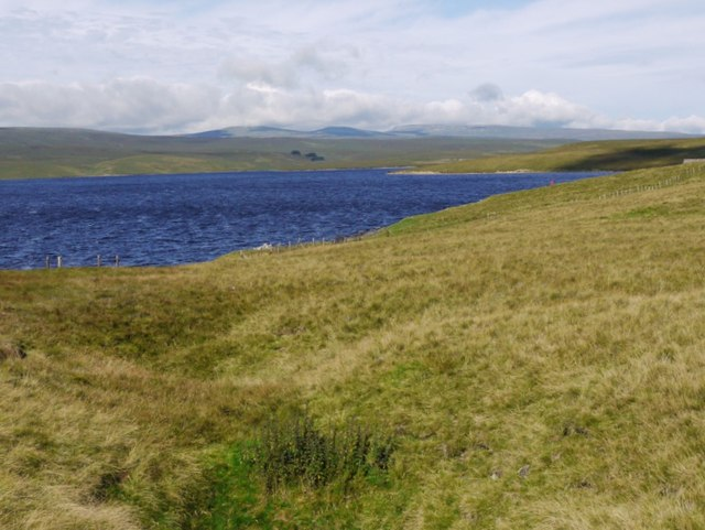 Cow Green Reservoir to the west