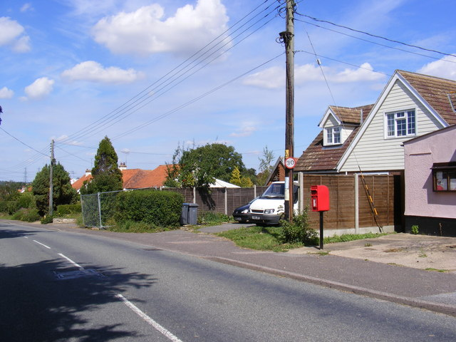Ipswich Road & Village Hall Postbox
