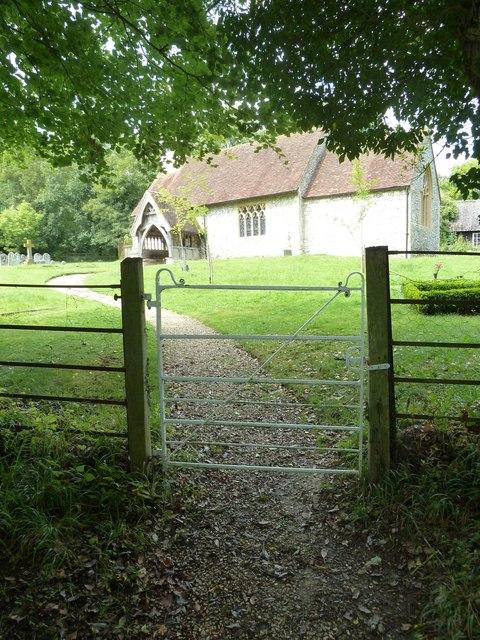 Gate to Tunworth Church