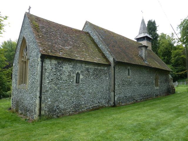 All Saints, Tunworth: north-east aspect