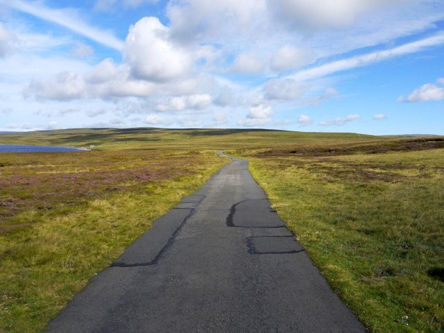 Road east of Cow Green Reservoir