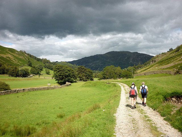 On the bridleway in Grisedale