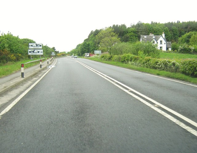 Approaching the junction with the A751