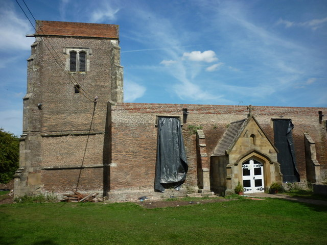 Building work at St Mary's, Watton