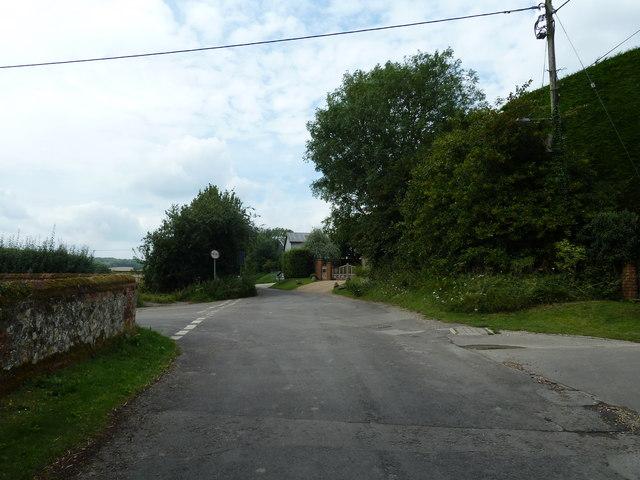 Lane passing Holy Rood, Holybourne