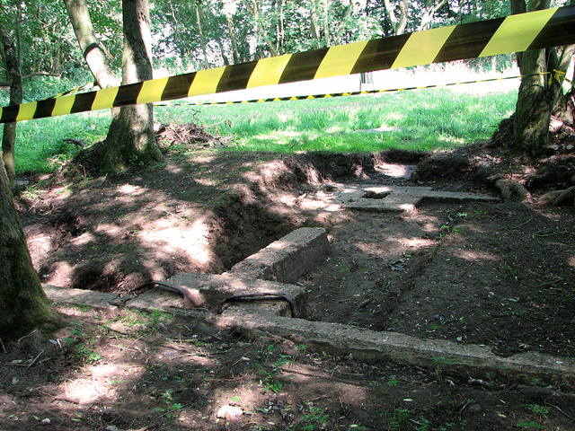 Excavation site in Whin Close