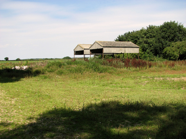 Dutch barns on the edge of Whin Close, Sedgeford