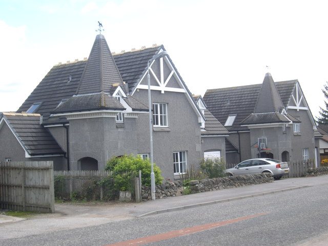 A pair of recent build houses on Craigour Road, Torphins