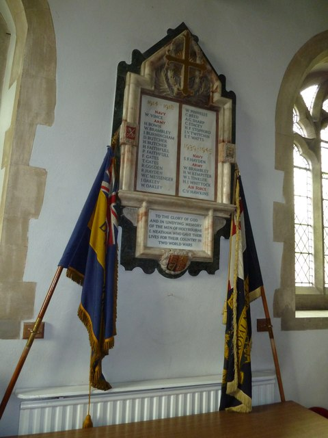 Holy Rood, Holybourne: war memorial