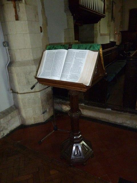 Holy Rood, Holybourne: lectern