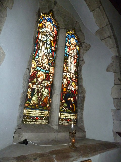 Holy Rood, Holybourne: stained glass window (ii)