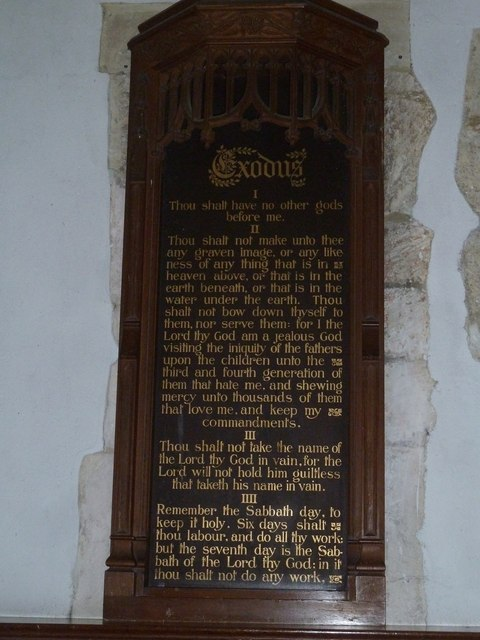 Holy Rood, Holybourne: The Ten Commandments