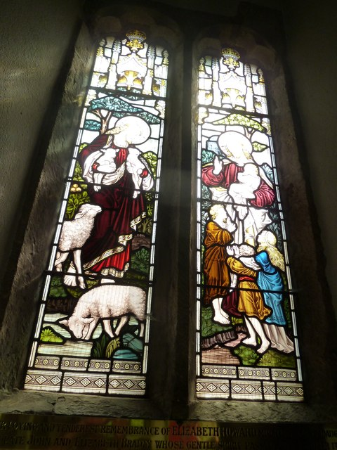 Holy Rood, Holybourne: stained glass window (iv)