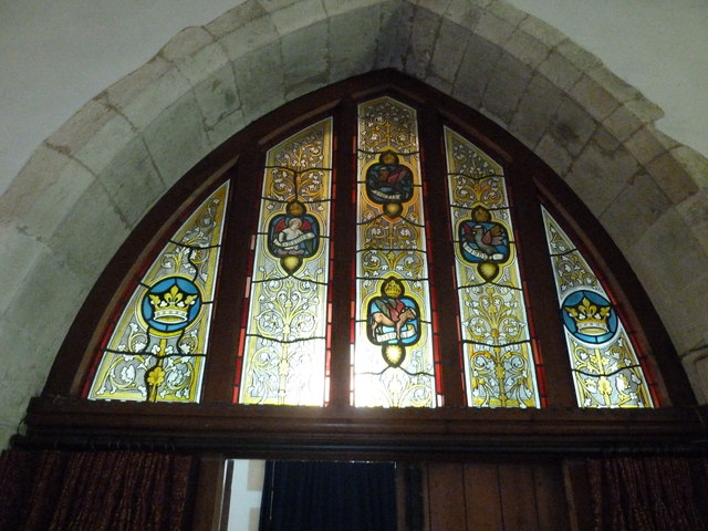 Holy Rood, Holybourne: stained glass window (v)