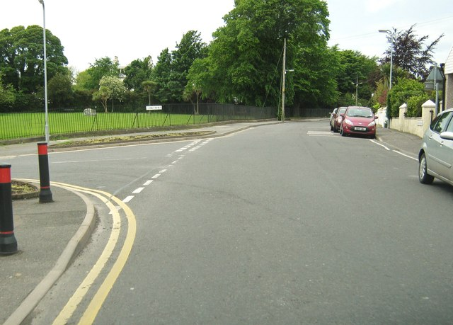 Glebe Street at the junction with Leswalt High Road