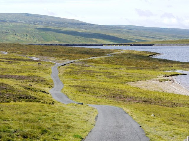 Road leading to Cow Green Dam