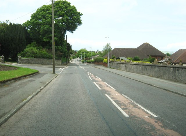 The junction of Leswalt High Road and Springwell Road