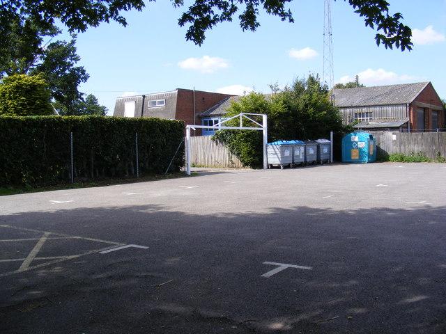 Grundisburgh recreation ground car park and entrance