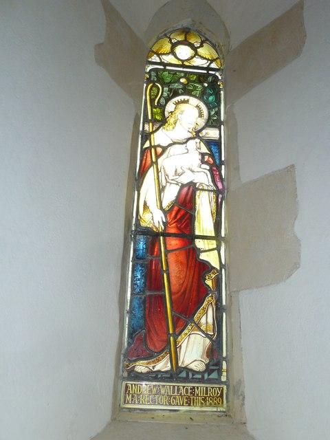St Mary Mapledurwell: stained glass window