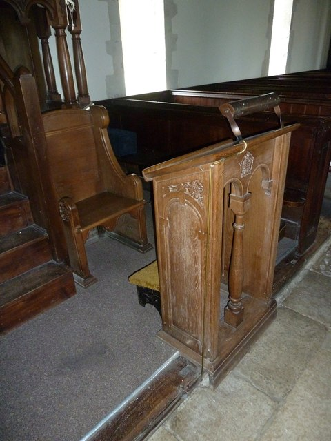 St Mary Mapledurwell: prayer desk