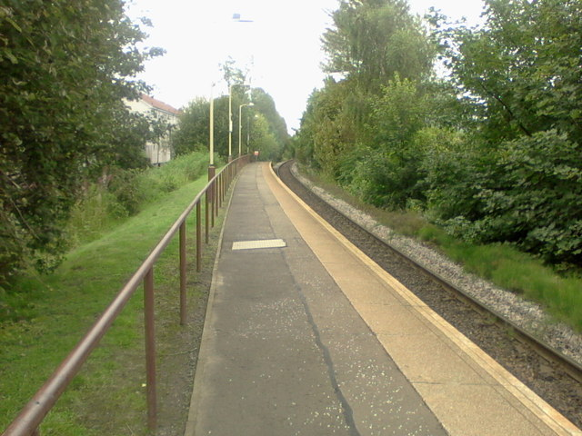 Mosspark railway station, looking ESE