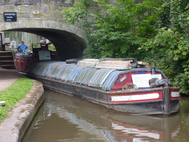 Working boat, bridge 73, Trent & Mersey Canal