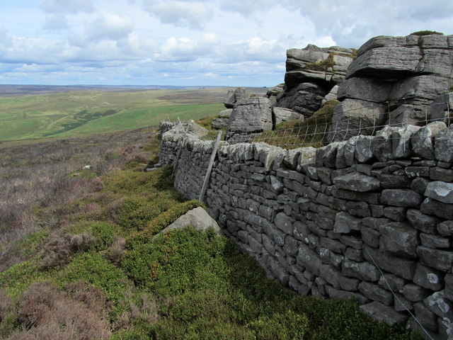 Wall below Outcrops on Barden Fell
