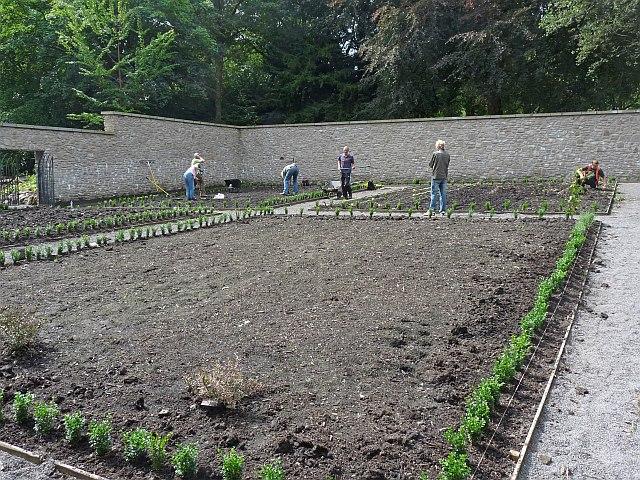 Restoration of the kitchen garden, Bedwellty Park