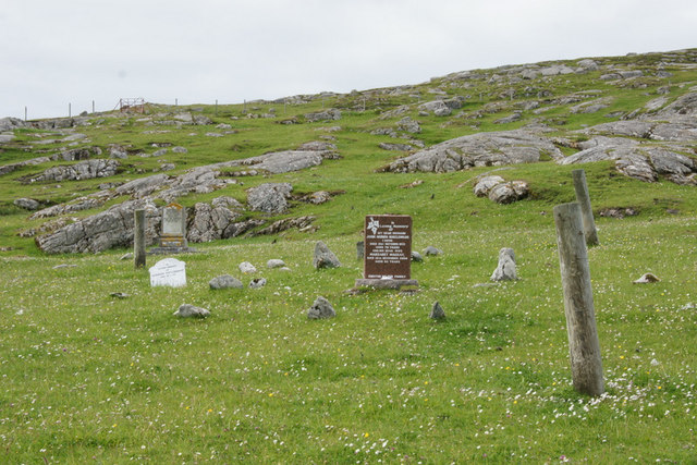 Unfenced graveyard at Huisinis