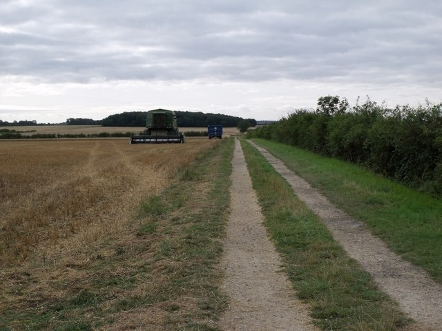 Harvesting near Digby Gorse