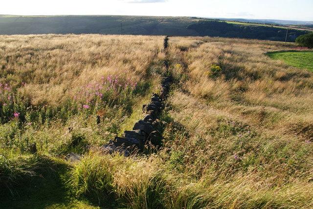 Footpath down to Scammonden