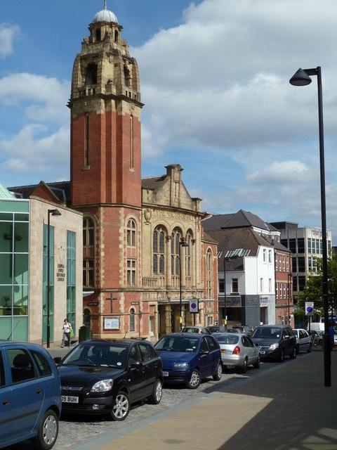 Norfolk Street and the Victoria Hall Methodist Church