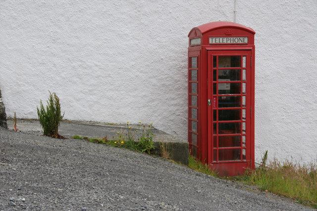 Telephone box at Aird Asaig