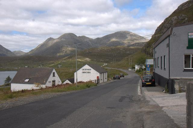 The A859 at Aird Asaig
